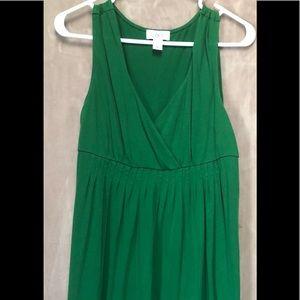Loft sleeveless dress green sz M